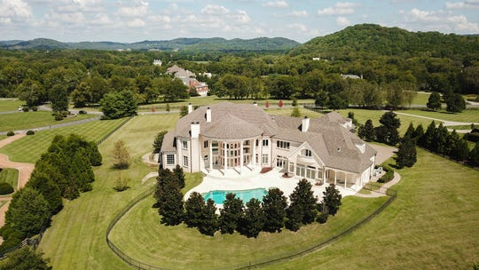 This $17.9 million estate in Franklin's exclusive gated community of Hidden River was put on the market in October.