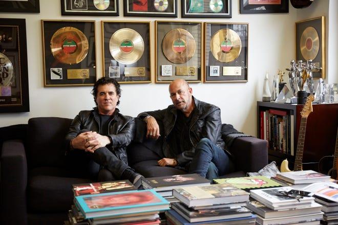 Scott Borchetta, left, and John Varvatos have partnered for a Nashville-based rock label under the Big Machine Label Group umbrella.