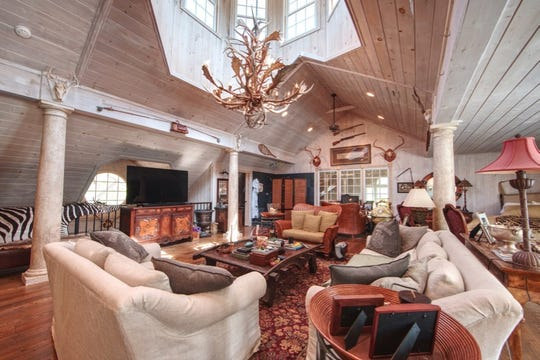 Inside the main house at Traceland Farm. At $32.5 million, it's currently the most expensive listing in the Nashville area.