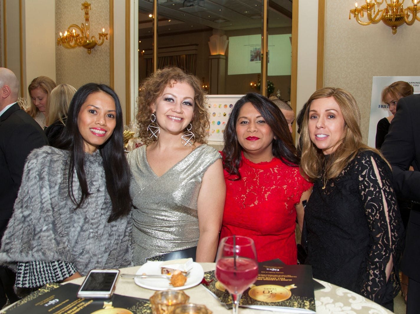 "Natcha Matusow, Jessica Miglin, Beenu Chaturbed, April Gonzalez. Alpine Learning Group held its ""Fall Affair 2018 - Celebrating 30 Remarkable Years"" at The Grove in Cedar Grove. 10/27/2018"