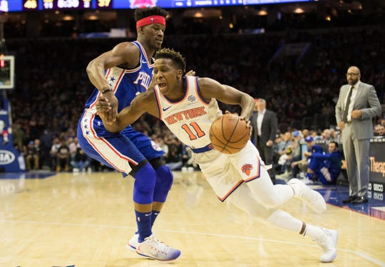 New York Knicks guard Frank Ntilikina is questionable for Wednesday's game against the Utah Jazz.