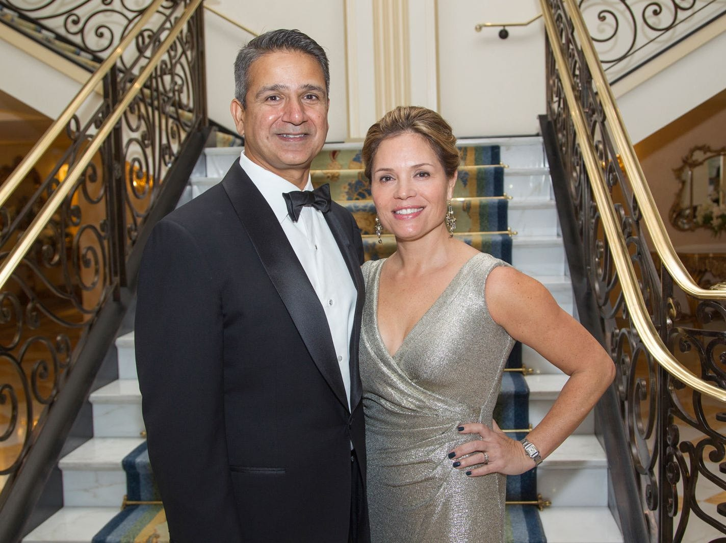 "Sam and Jenny Khichi. Alpine Learning Group held its ""Fall Affair 2018 - Celebrating 30 Remarkable Years"" at The Grove in Cedar Grove. 10/27/2018"