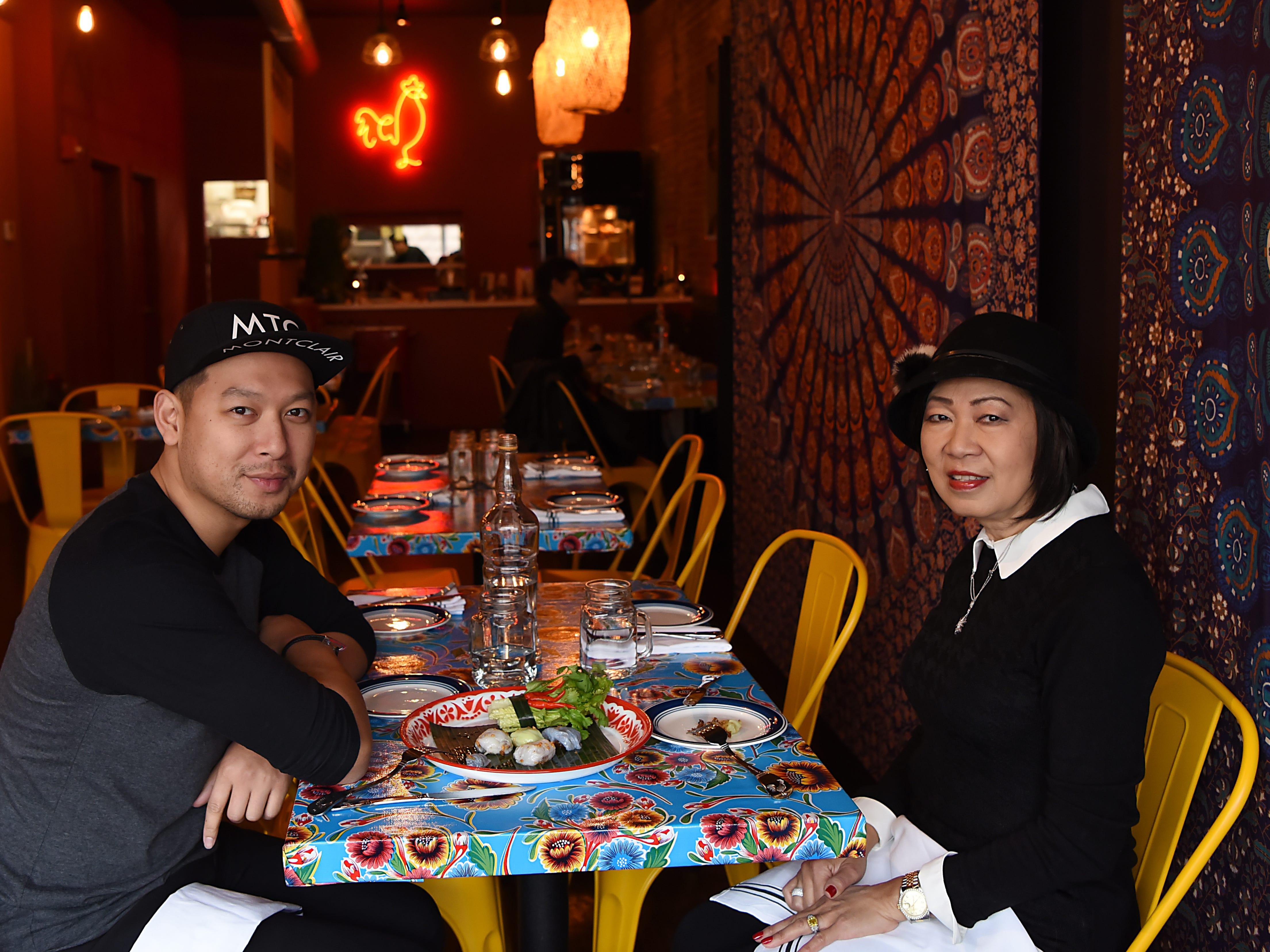 Sheree Sarabhaya and her son Luck Sarabhayavinija both own restaurants on Bloomfield Avenue in Montclair. They pose for photos at Kai Yang on Thursday December 20, 2018.