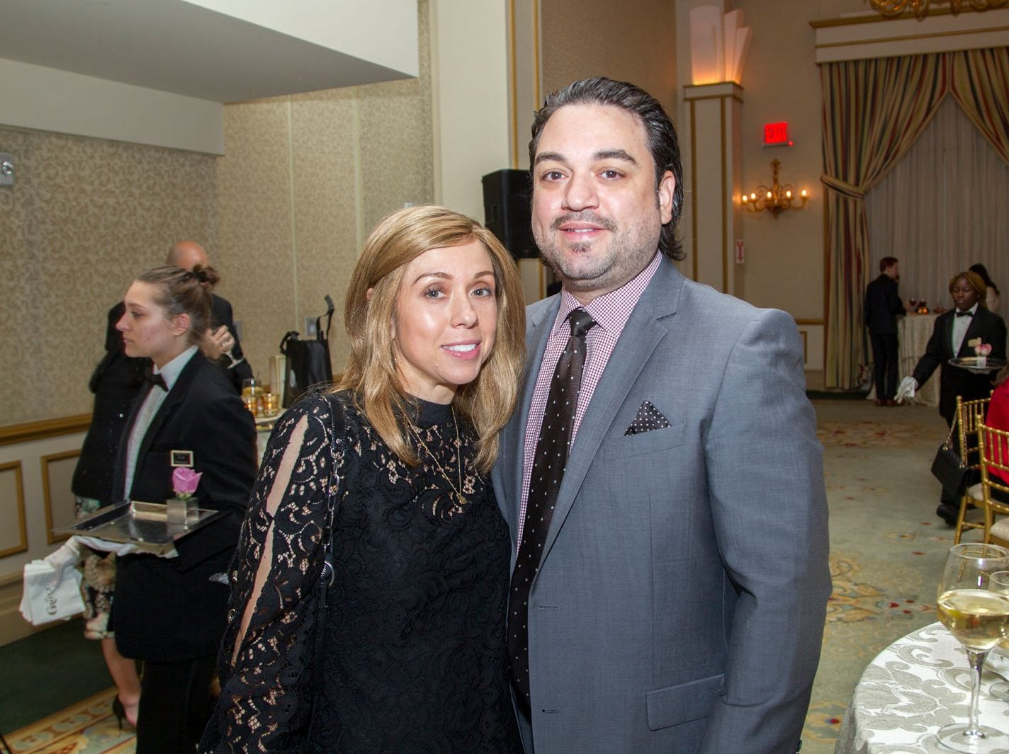 "April and Octavio Gonzalez. Alpine Learning Group held its ""Fall Affair 2018 - Celebrating 30 Remarkable Years"" at The Grove in Cedar Grove. 10/27/2018"
