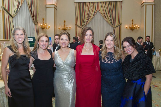 "Julie Willard, Tara Minardo, Sam Khichi, Lisa Davis, Tracy Okeefe, and Amanda Como. Alpine Learning Group held its ""Fall Affair 2018 - Celebrating 30 Remarkable Years"" at The Grove in Cedar Grove. 10/27/2018"