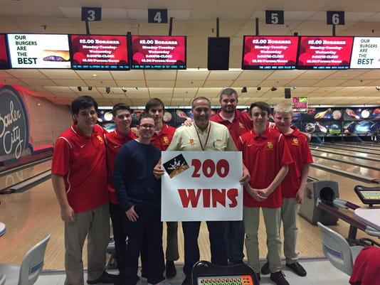 Bowling 2018 19 Bergen Catholic Larry Fierro 200th 12 12