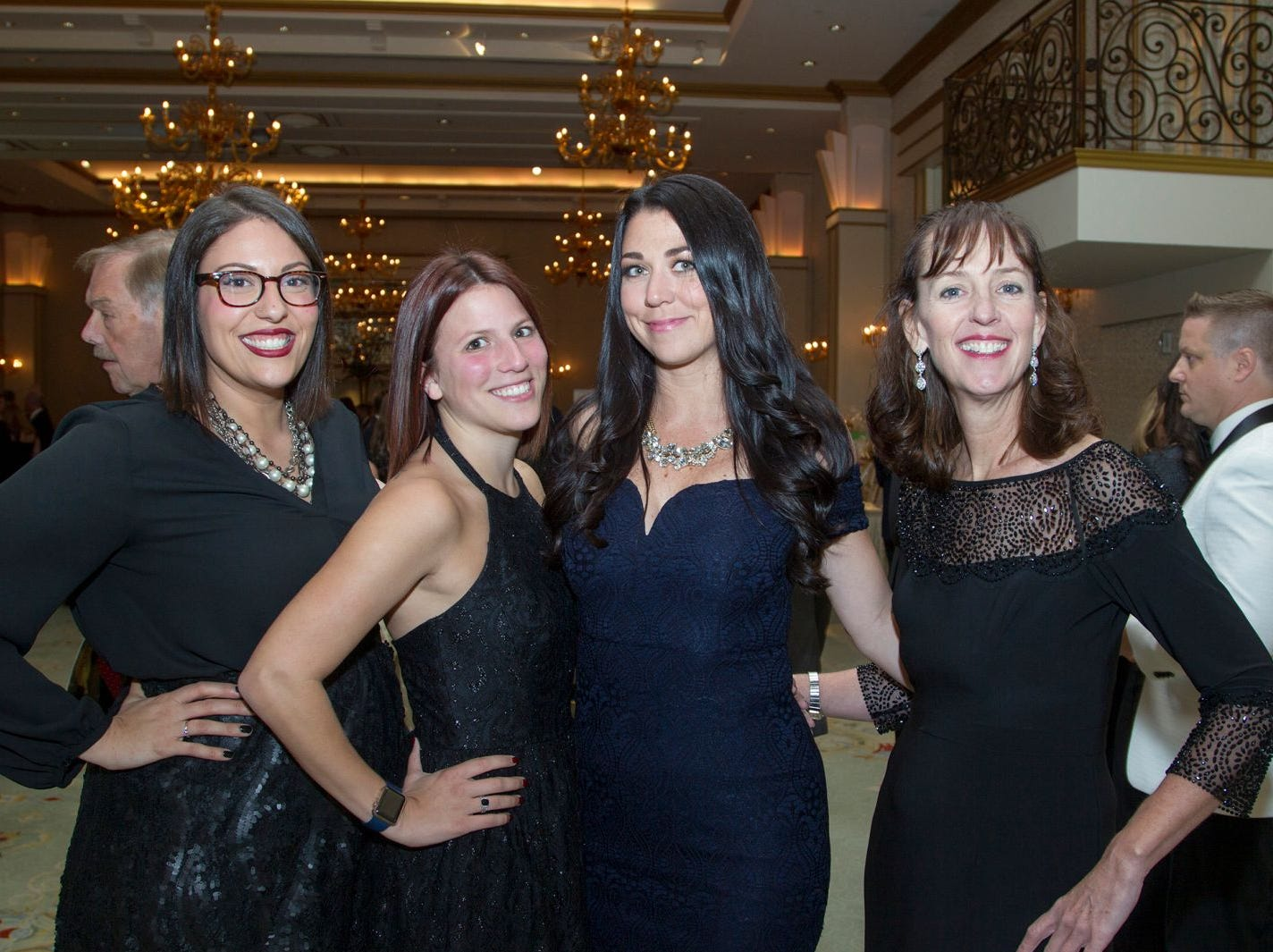 "Amira El-Boghdedy, Stephanie Ventura, Jacqueline Brunton, Patricia Brussel. Alpine Learning Group held its ""Fall Affair 2018 - Celebrating 30 Remarkable Years"" at The Grove in Cedar Grove. 10/27/2018"