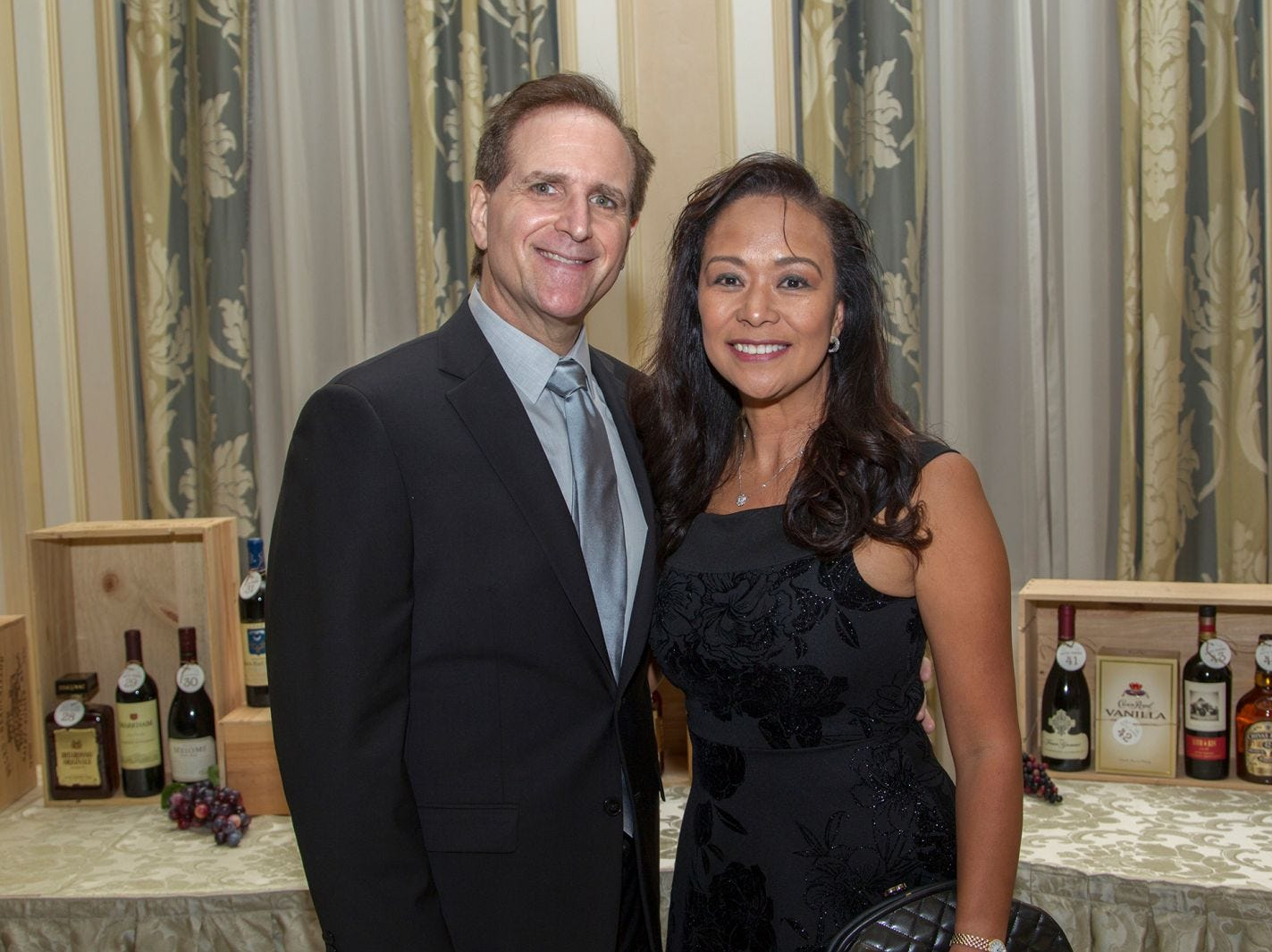 "Steve Deacutis, Dr. Marie Domingo. Alpine Learning Group held its ""Fall Affair 2018 - Celebrating 30 Remarkable Years"" at The Grove in Cedar Grove. 10/27/2018"
