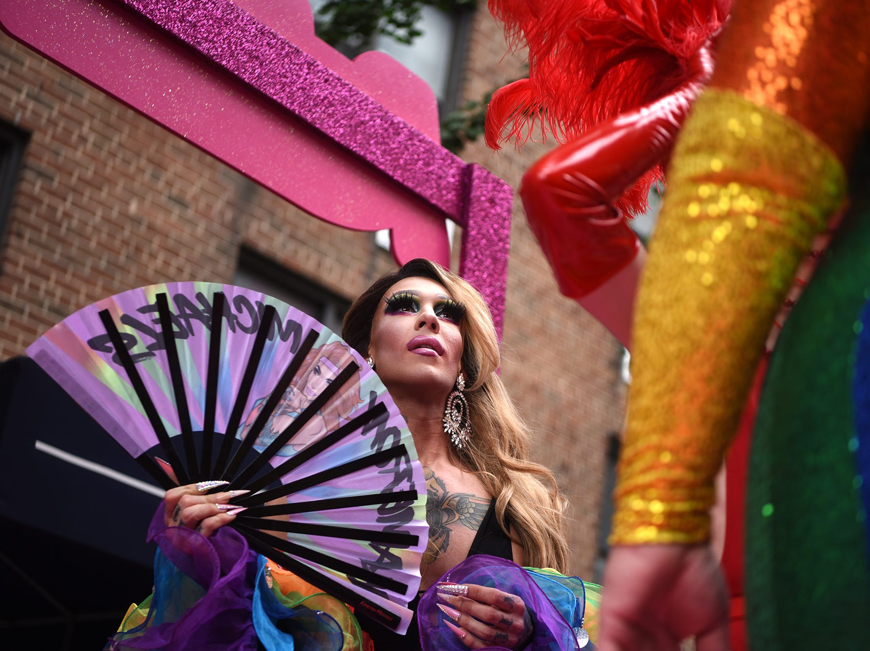 The 49th annual Pride Parade in New York City commemorates the Stonewall Riots that erupted in response to a police raid of the gay bar the Stonewall Inn on Christopher St. The parade marks the end of Pride month. Sunday, June 24, 2018
