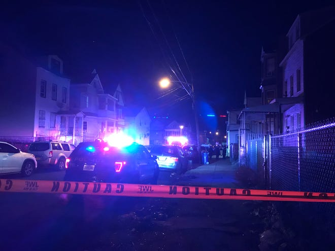 Police investigate a shooting in Paterson Dec. 19, 2018.