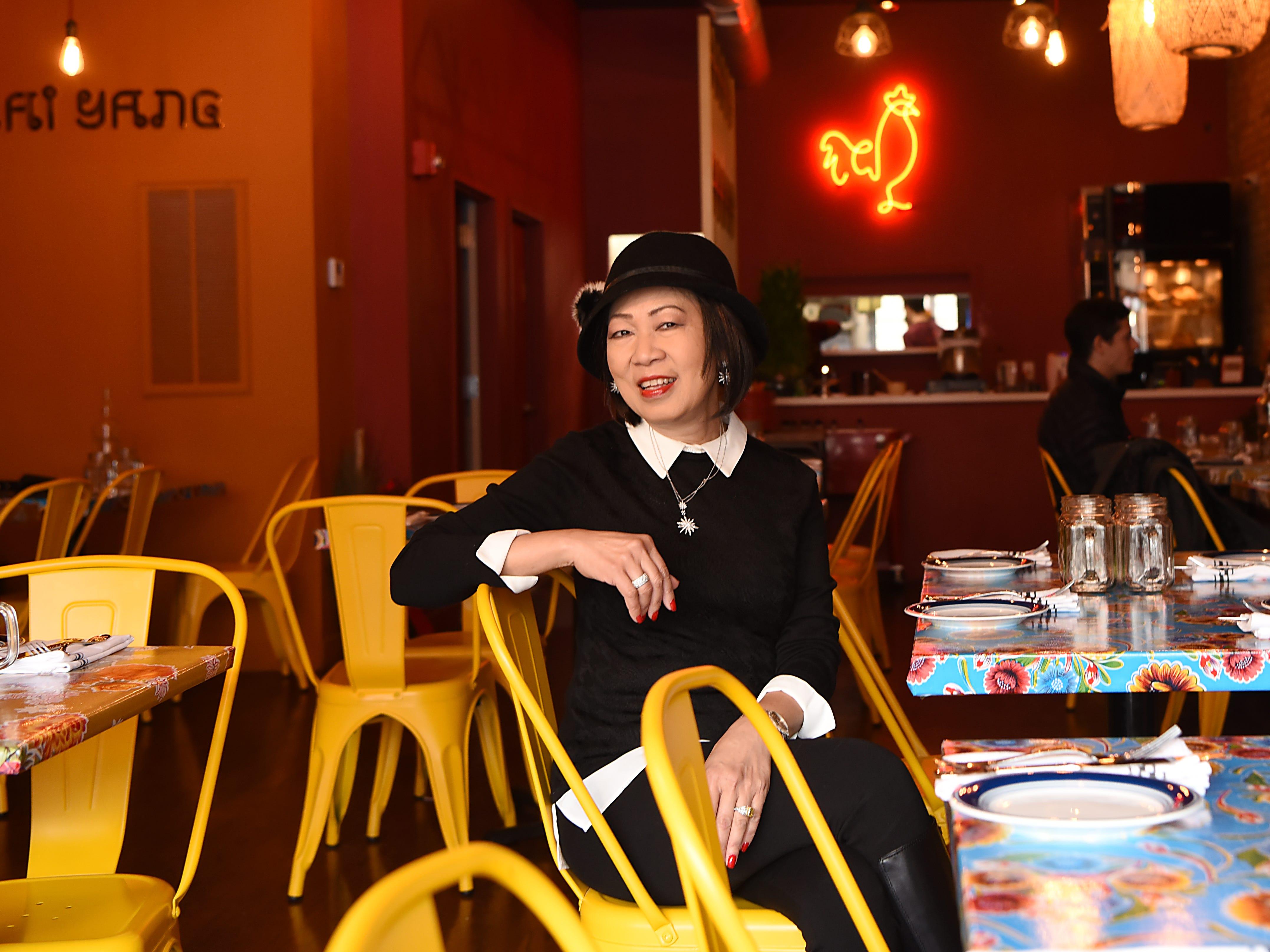 Sheree Sarabhaya and her son Luck Sarabhayavinija both own restaurants on Bloomfield Avenue in Montclair. Sheree Sarabhaya owner of Kai Yang, poses for photos on Thursday December 20, 2018.