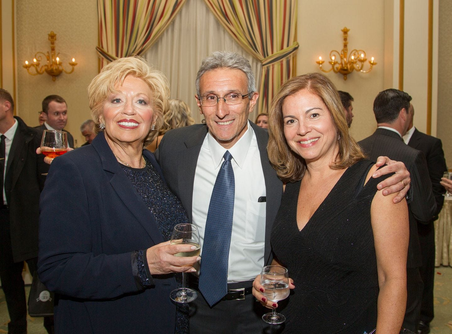 "Yola Freindman, Robert Feuerstein, Shira Feuerstein. Alpine Learning Group held its ""Fall Affair 2018 - Celebrating 30 Remarkable Years"" at The Grove in Cedar Grove. 10/27/2018"