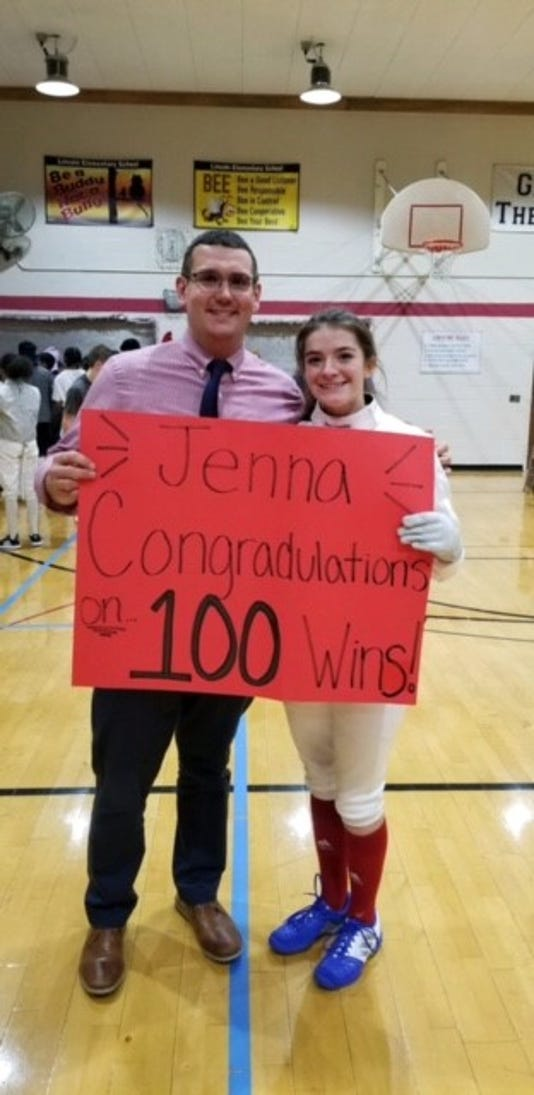 Fencing Jenna Waibel 100 Wins Paul Smith