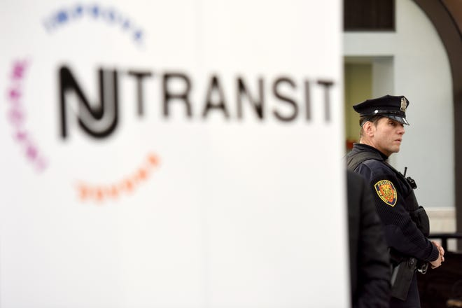 A NJ Transit police office in the Summit Train Station.