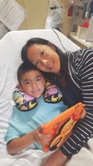 Dr. Erica Song with her son Daniel