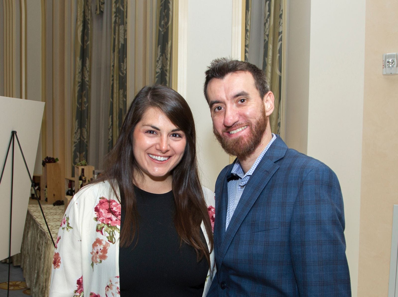 "Jessica and Jason Amaro. Alpine Learning Group held its ""Fall Affair 2018 - Celebrating 30 Remarkable Years"" at The Grove in Cedar Grove. 10/27/2018"