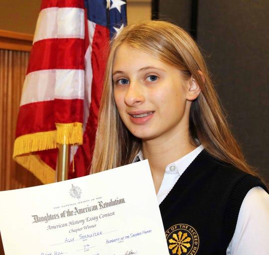Seventh-grade winner Ally Schaufler of Birmingham.