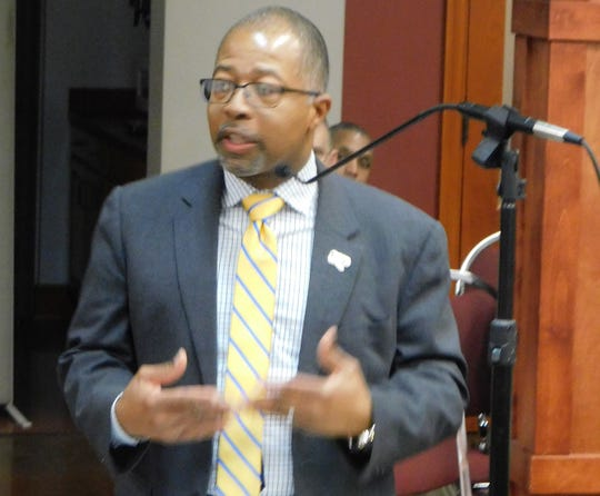 S t. Landry Parish School Superintendent Patrick Jenkins appears before the Parish Council on Wednesday night