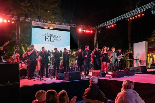 Citrus College band NightShift had the crowd dancing in the street.