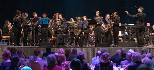 Buddy Rogers Youth Symphony joins the full orchestra for two pieces.
