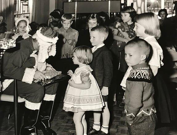 Children with Santa, date unknown