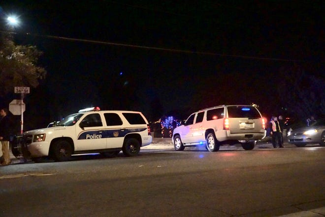 Phoenix police were at the scene of a shooting involving an officer on Dec. 19, 2018.