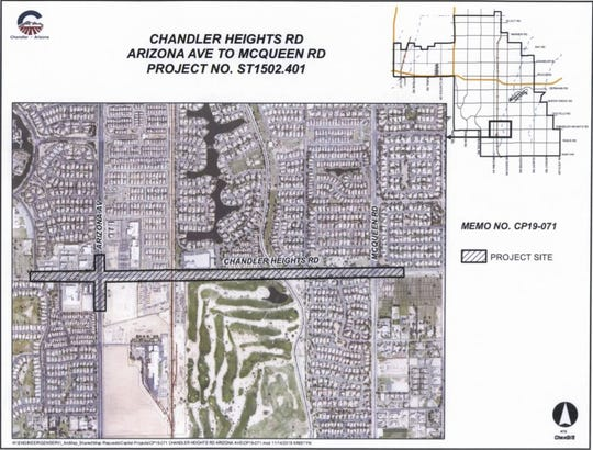 Construction crews will break ground on a road improvement projects along Chandler Heights Road from Arizona Avenue to McQueen Road in January.