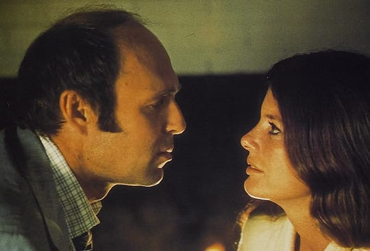 "Peter Masterson and Katharine Ross star in ""The Stepford Wives."""
