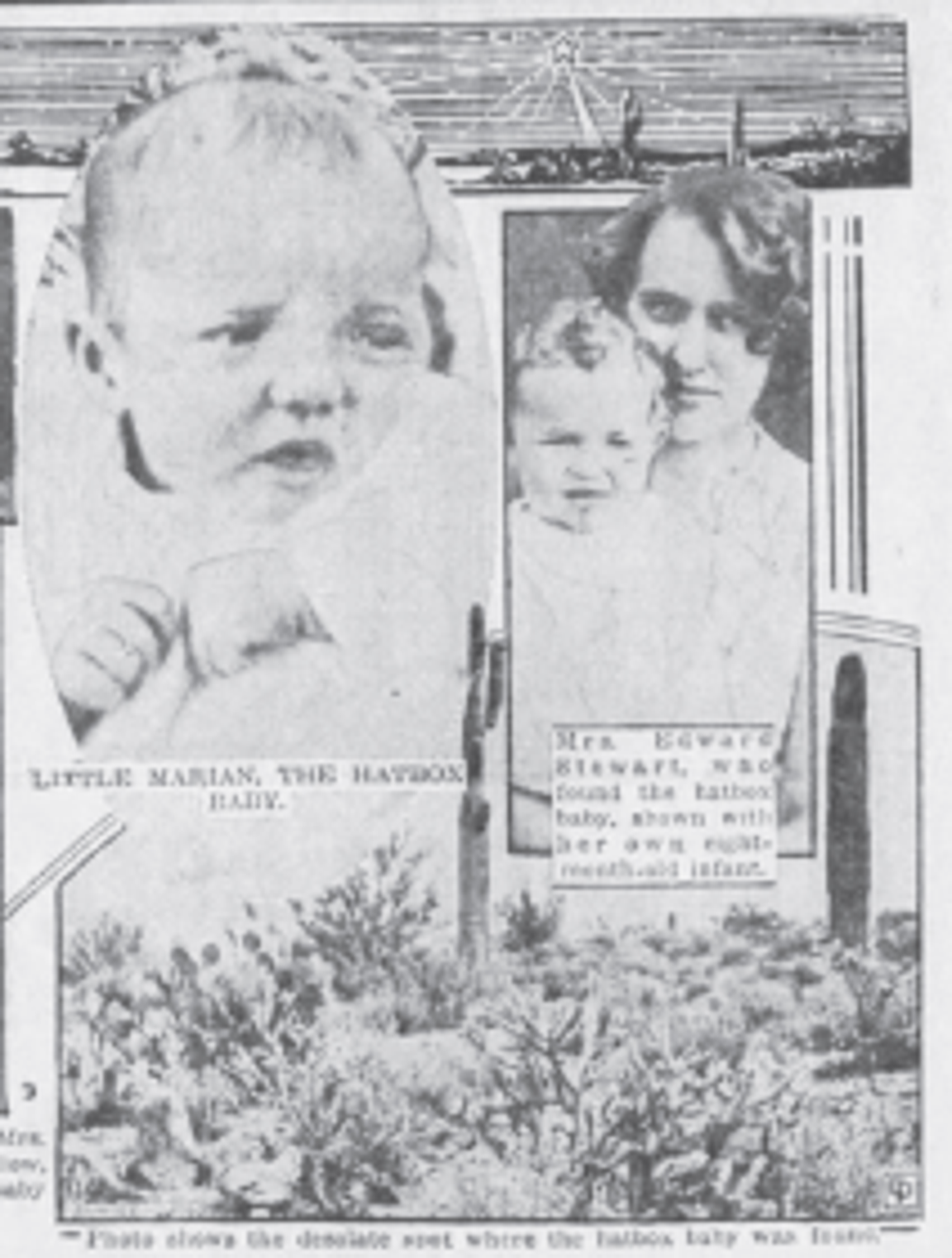 Julia Stewart is pictured (right) in an anniversary story in the Quad-City Times in Davenport, Iowa, Dec. 16, 1932.