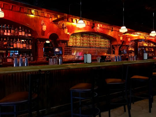 The Sazerac in downtown Phoenix includes a Brunswick-style back bar made from red oak.