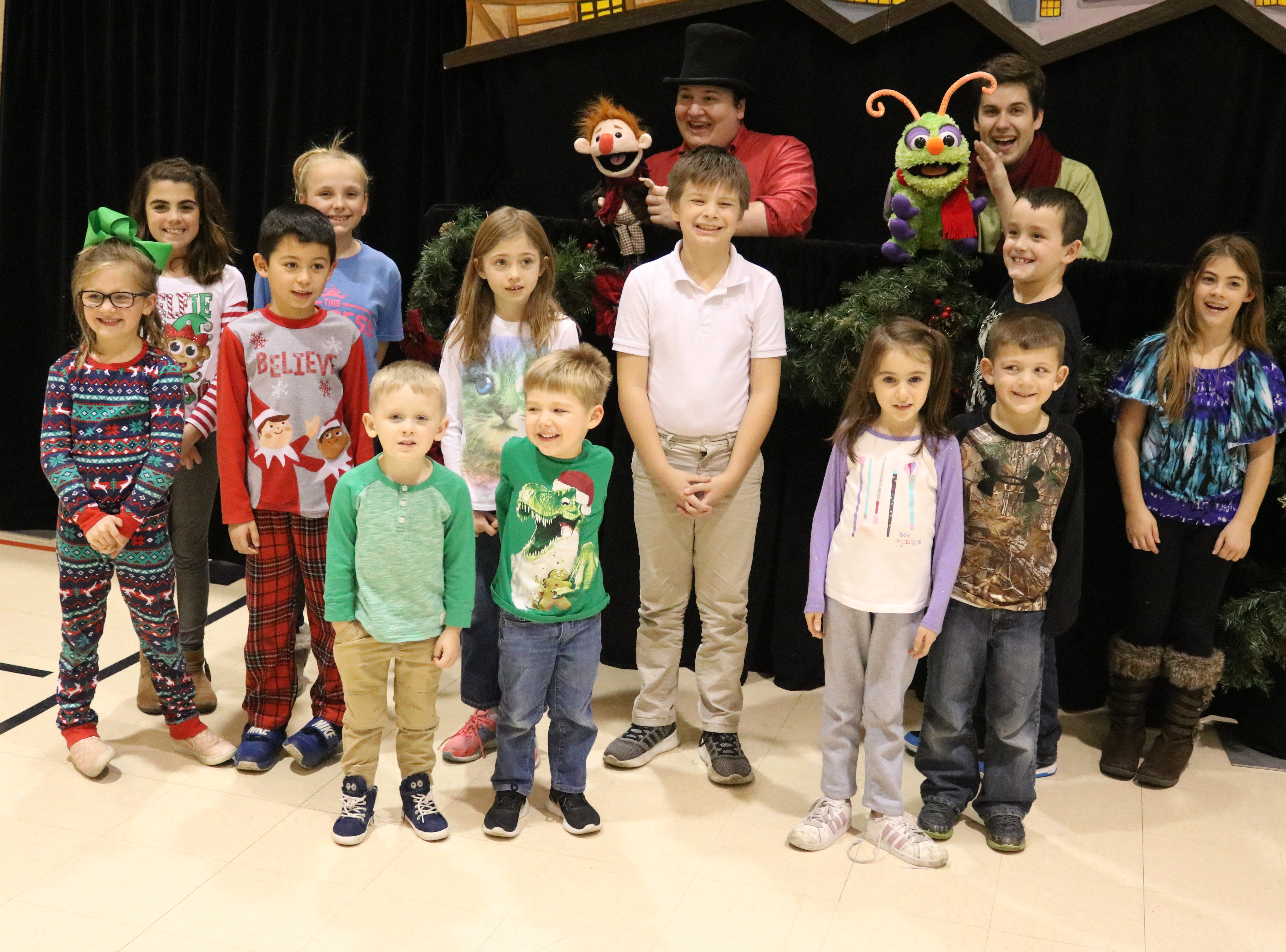 "Madcap Puppets visited Immaculate Conception School in Port Clinton to perform ""A Christmas Carol"" for students."