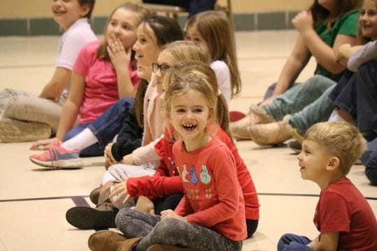 """Madcap Puppets visited Immaculate Conception School in Port Clinton to perform """"A Christmas Carol"""" for students."""