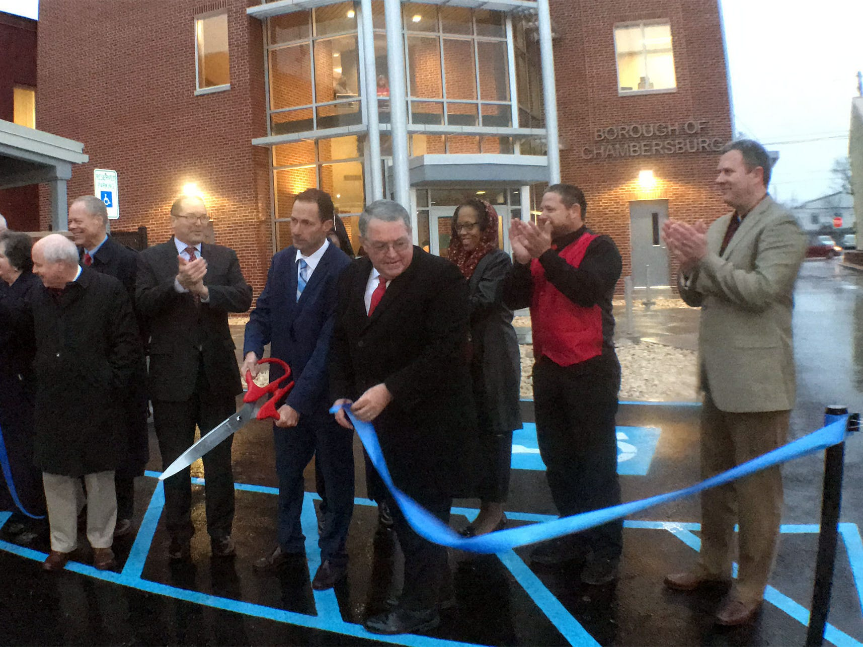 A ribboncutting ceremony was held Thursday, December 20, 2018 at Chambersburg Borough Hall new addition.