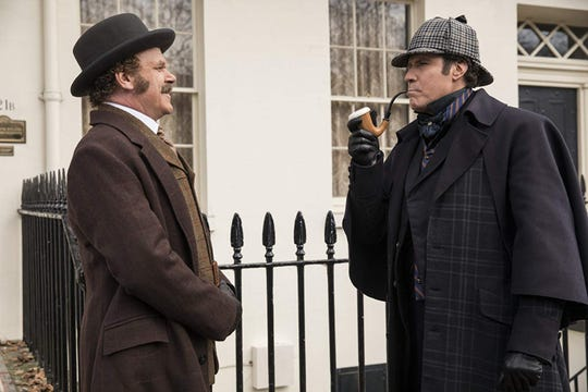 """John C. Reilly, left, and Will Ferrell star in """"Holmes & Watson."""" The movie opens Dec. 25 at Regal West Manchester Stadium 13 and R/C Hanover Movies."""