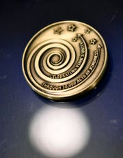The Celebrating York's Unity through Ten Thousand Acts of Kindness project unveils the commemorative Kindness Coin and awards the first of hundreds already earned, Thursday, December 20, 2018. John A. Pavoncello photo