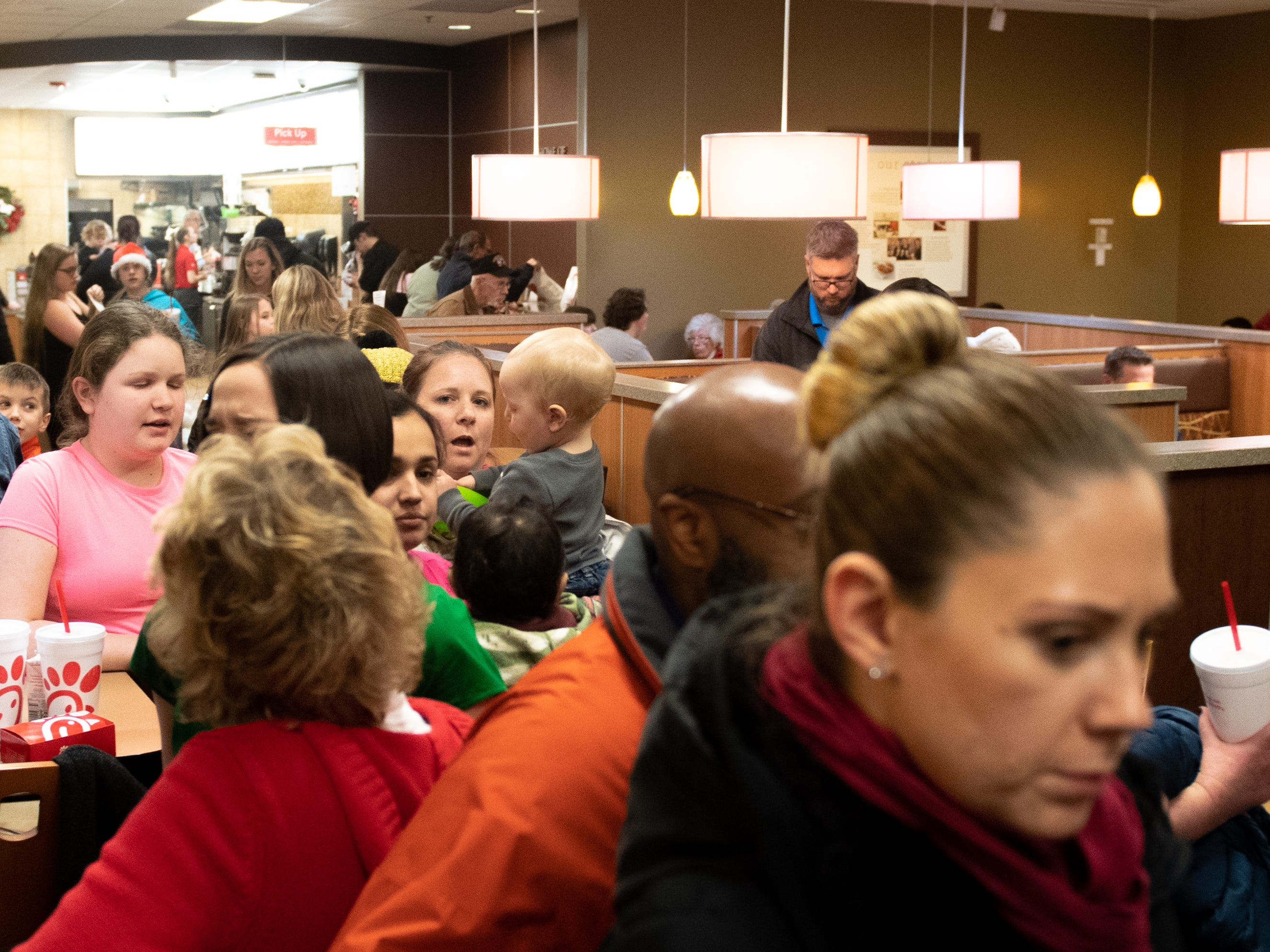 People feeling the holiday spirit came from all over York County to partake in the Dinner with Santa and Santa Cow event at Chick-fil-A in East York. They all waited patiently to tell the big man in red what they wanted for Christmas, December 19, 2018.