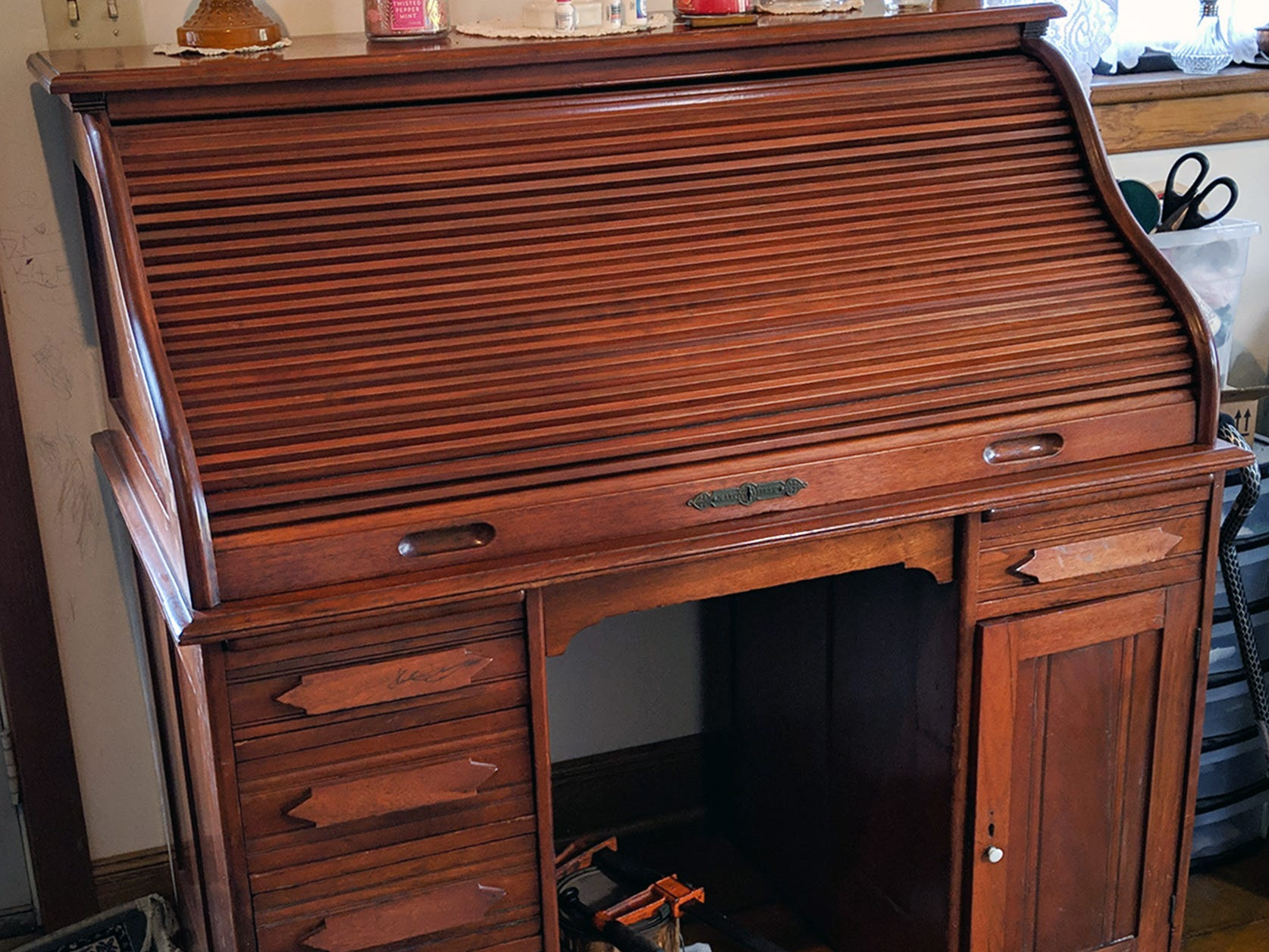John McHenry's desk is all waxed and ready to return back to Millersville this January.