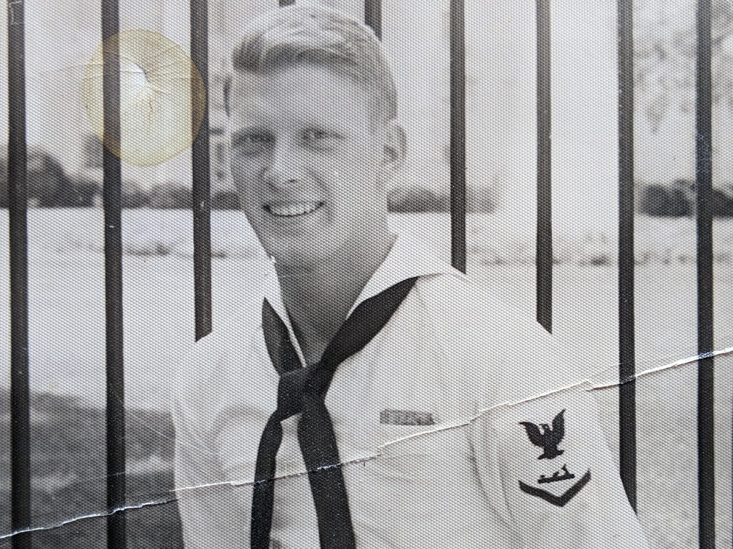 An undated photo John McHenry during his military service.