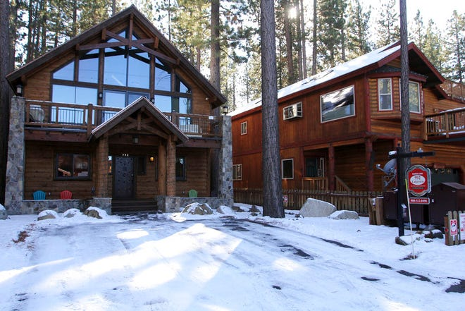 This Nov. 12, 2015 photo shows vacation rental homes in South Lake Tahoe, Calif.