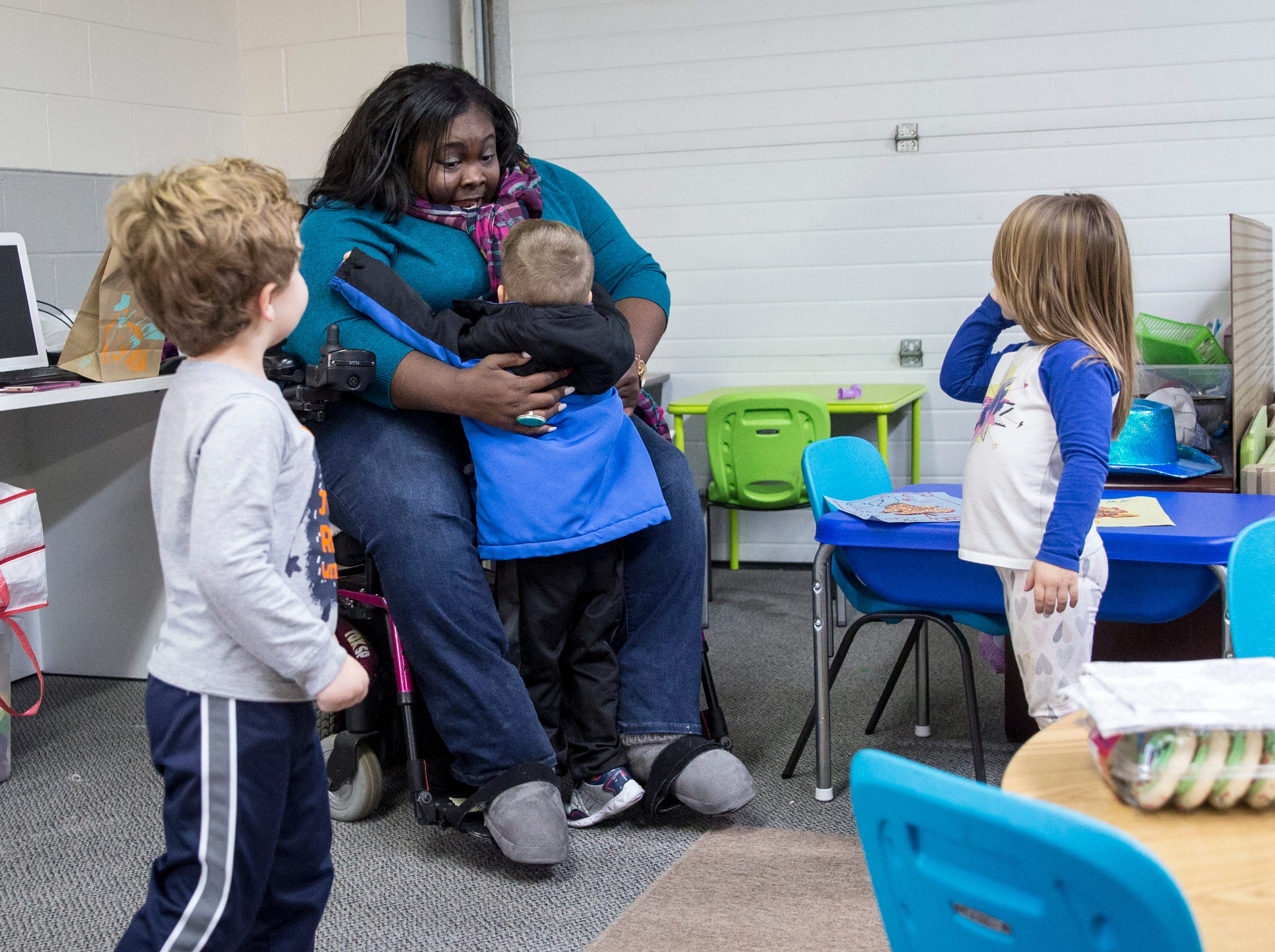 Allison Washington-Lacey works with children at Oak Park Early Learning. Washington-Lacey was diagnosed with multiple sclerosis after leaving for college and becoming severely ill.
