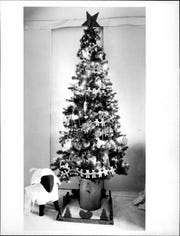 "Among the ""Festival of Trees"" to be seen at the Convention Center in 1986 was artist Rosemary Disney's Victorian ""pencil"" tree."