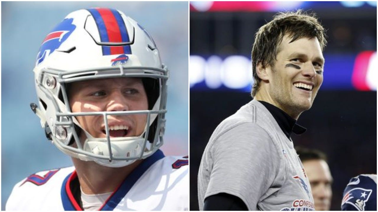 37021e7e Bills Josh Allen grew up watching Tom Brady. Now he's playing against his  hero.