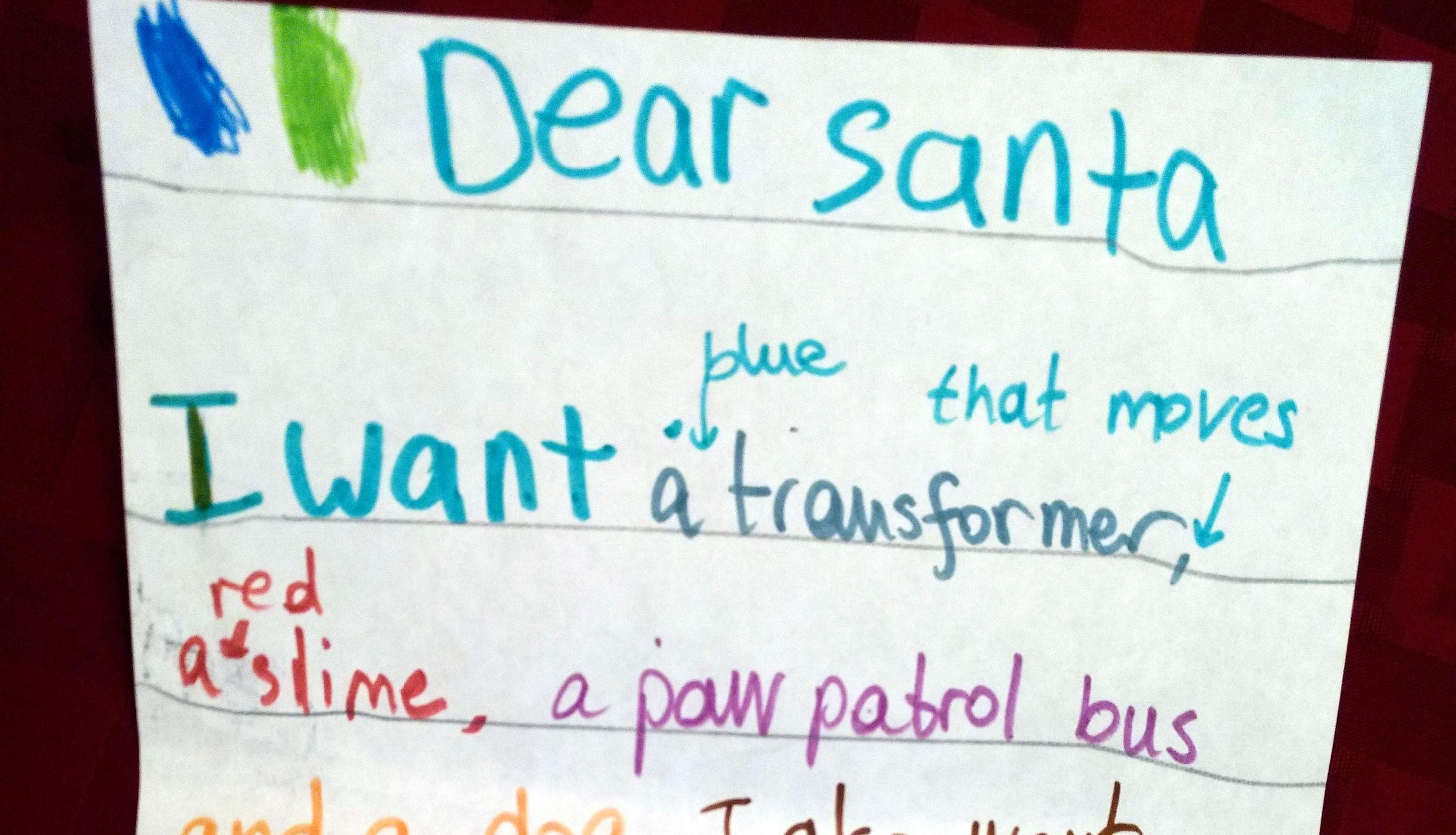 Dear Santa: Letters from Carlsbad's kids