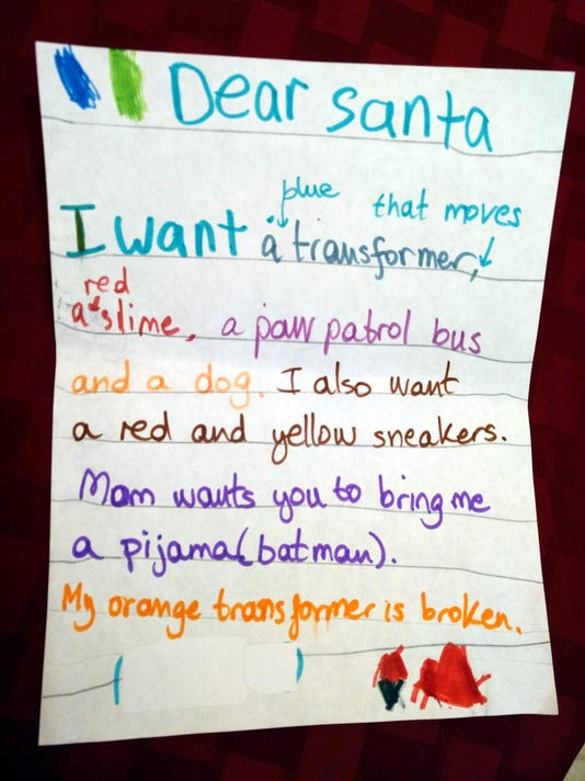 dear santa letters from carlsbads kids