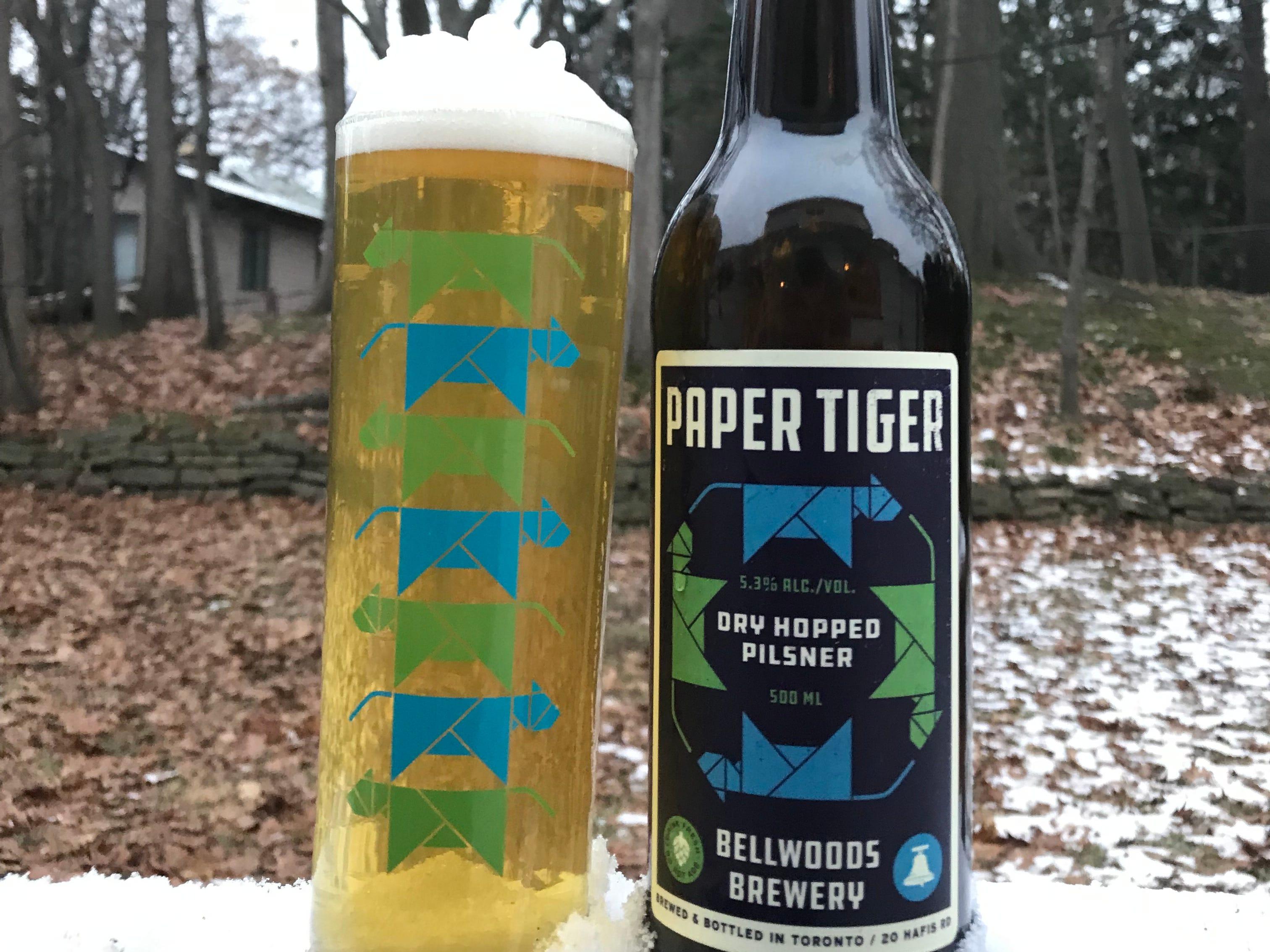 Bellwoods Brewing Paper Tiger, dry-hopped Pilsner.