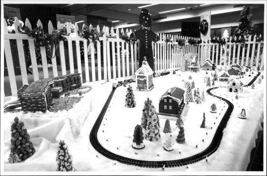 JUNIOR LEAGUE OF ROCHESTER  The Gingerbread Village had a Lionel train traveling throughout the winter  at the Festival of Trees at the Convention Center in 1988.