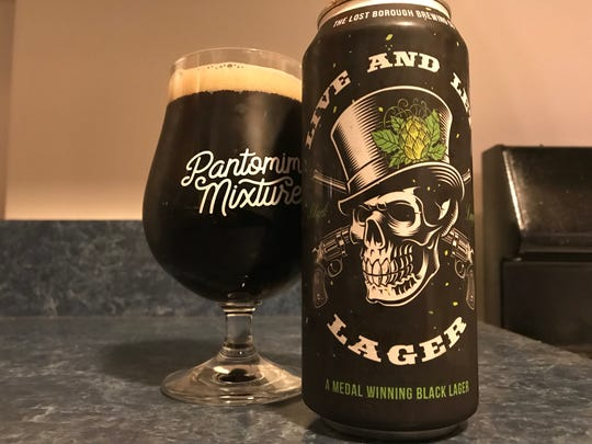 Lost Borough's Live and Let Lager black lager.