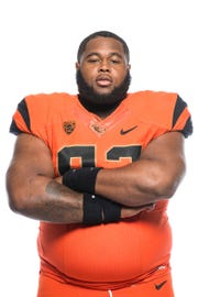 Oregon State nose guard Jordan Whittley played for Laney College this season.