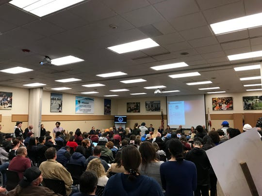 A crowded audience attended the Monterey County board of education's special meeting regarding Millennium Charter High School's future.