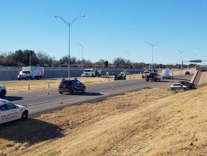 Two wrecks slowing traffic in the 1900 block of W Houston Harte Thursday, Dec. 20, 2018.